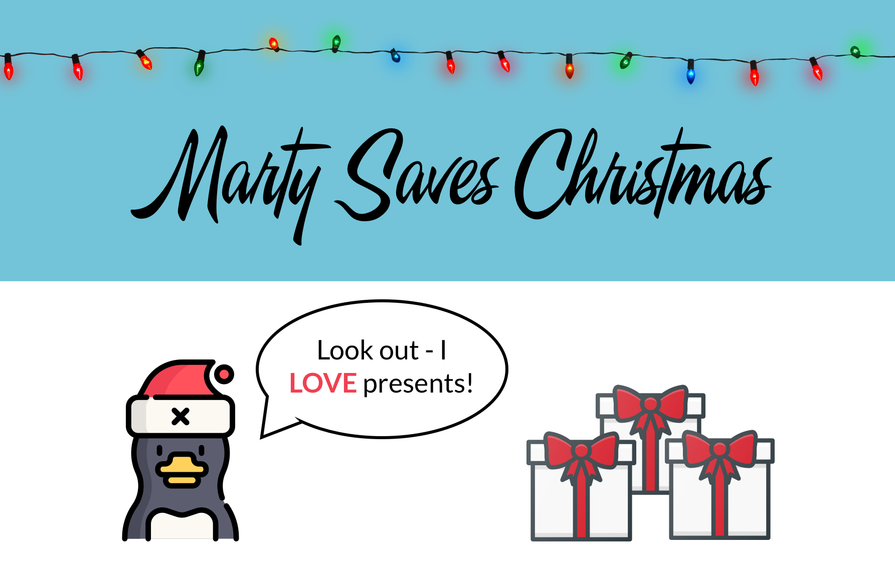 marty saves christmas pack