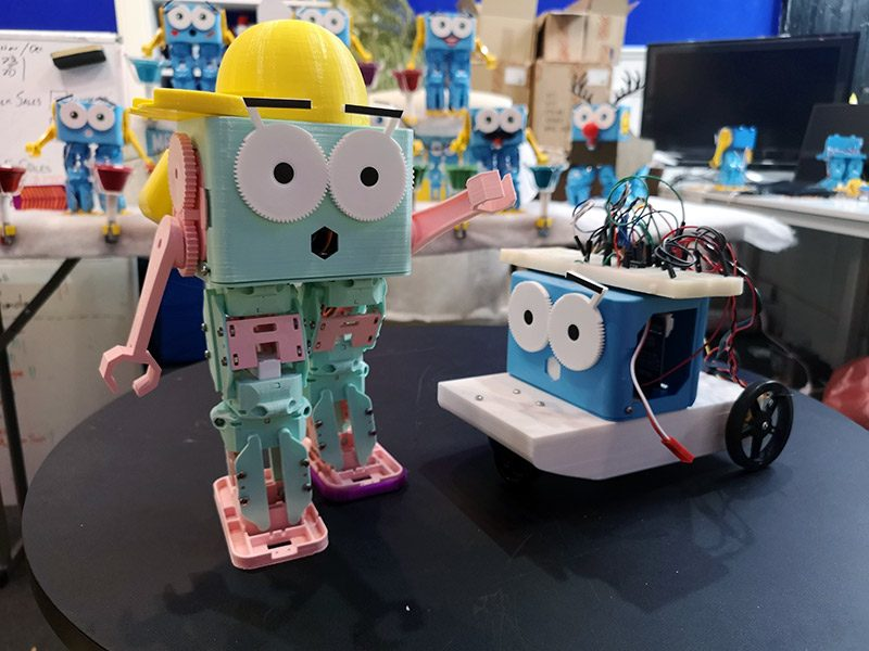 Some example 3D Printed Marty the Robots