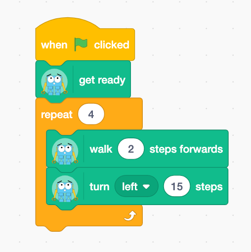 example of scratch 3 and marty blocks