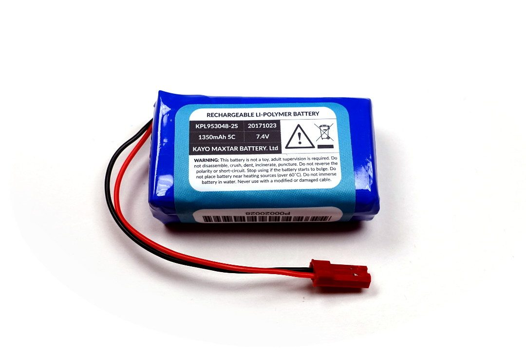 LiPo Battery 1400mAh 7.4v 2 Cell  image 2